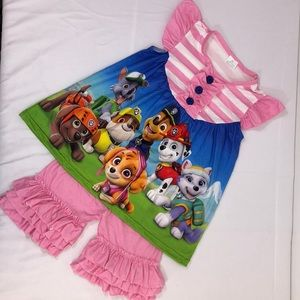 Boutique Matching Sets - NEW Paw Patrol Top & Ruffle Shorts.